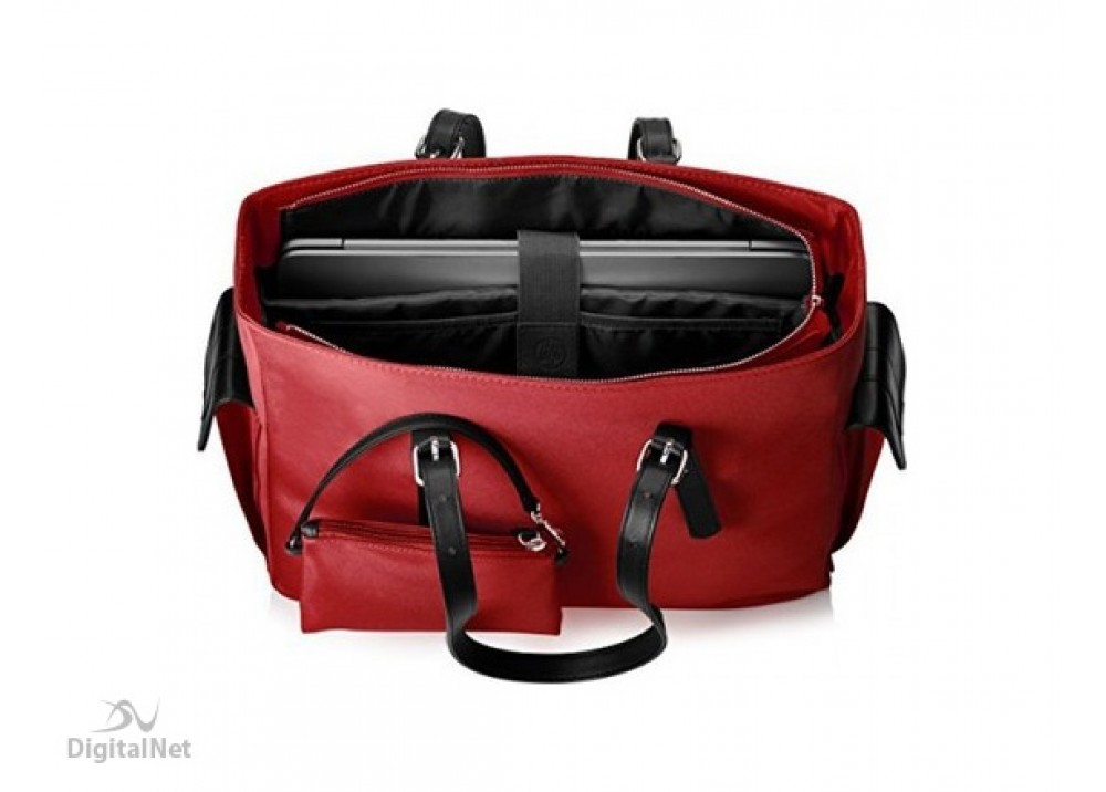 """HP LAPTOP BAG EUROP-ENGL LOCAL TOPLOAD FOR LADIES 14"""" RED"""