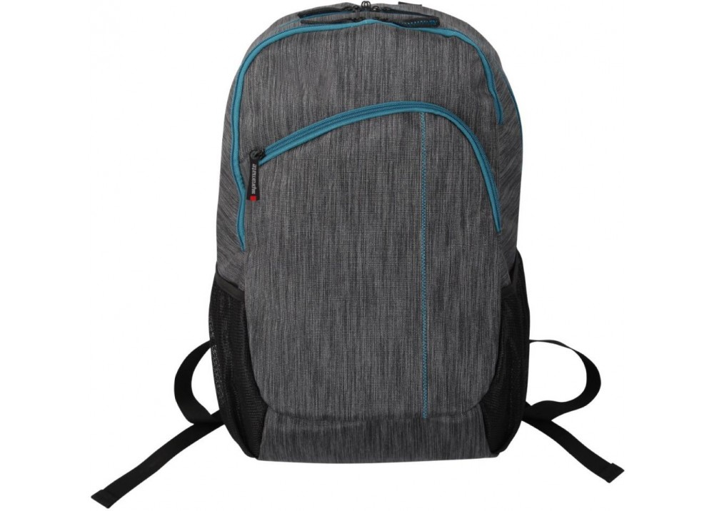 """PROMATE ACCENTED LAPTOP Backpack With MULTIPLE POCKET 15.6"""" BLACK GRAY"""