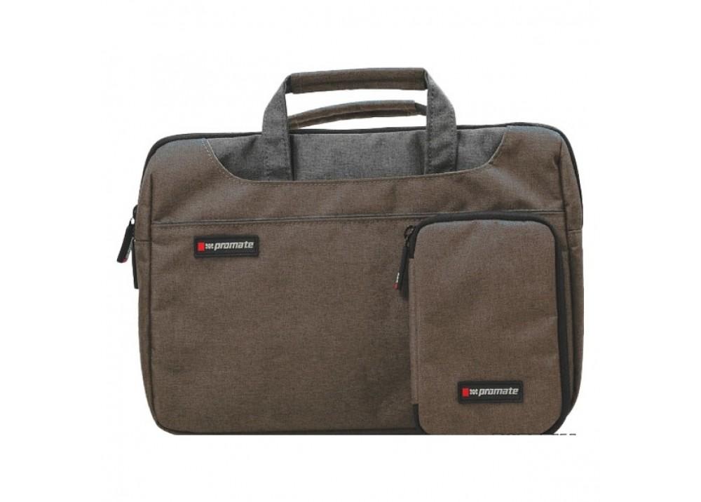 "PROMATE LAPTOP BAG CLASSIC ELEGANT DESIRE-L 15.4"" BROWN"