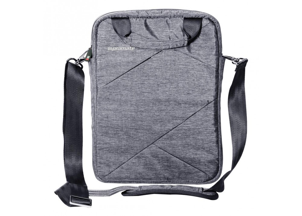 "PROMATE TRENCH-S LIGHTWEIGHT HANDBAG FOR TABLETS UPTO 9.7"" GRAY"