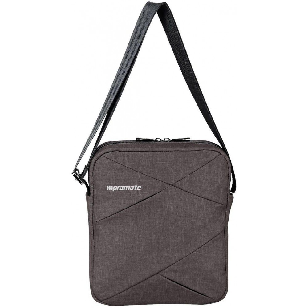 """PROMATE TRENCH-S LIGHTWEIGHT HANDBAG FOR TABLETS UPTO 9.7"""" BROWN"""