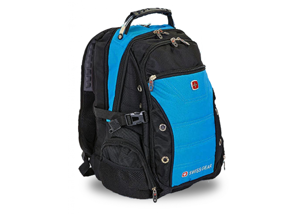SWISSGEAR LAPTOP BAG 15.6 AIRFLOW WITH USB & AUX BLACK AND BLUE