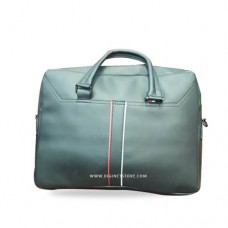 """تومي حقيبة لابتوب كتف 15.6"""" جلد اسود"""