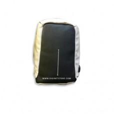"""بدون ماركة تجارية حقيبة ظهر 15.6"""" جلد فضي"""