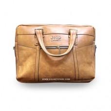 """جيب حقيبة لابتوب  15.6"""" بني فاتح"""