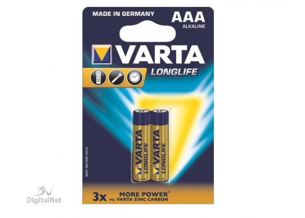 VARTA BATTARIES LONGLIFE AAA, EXTRA BLI2