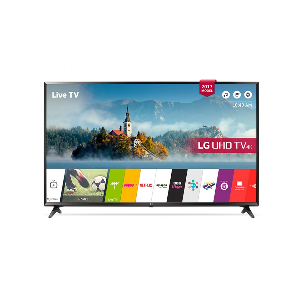 "LG LED TV 65"" UJ630V ULTRA HD 4K SMART WITH RECIVER BLACK"