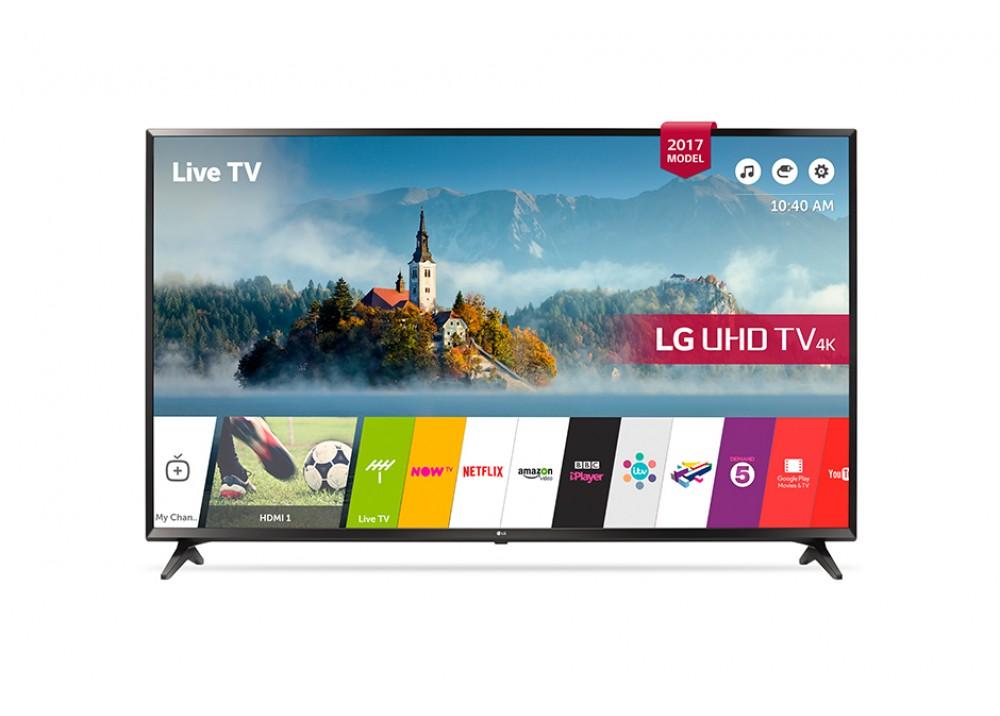 """LG LED TV 65"""" UJ630V ULTRA HD 4K SMART WITH RECIVER BLACK KOREA"""