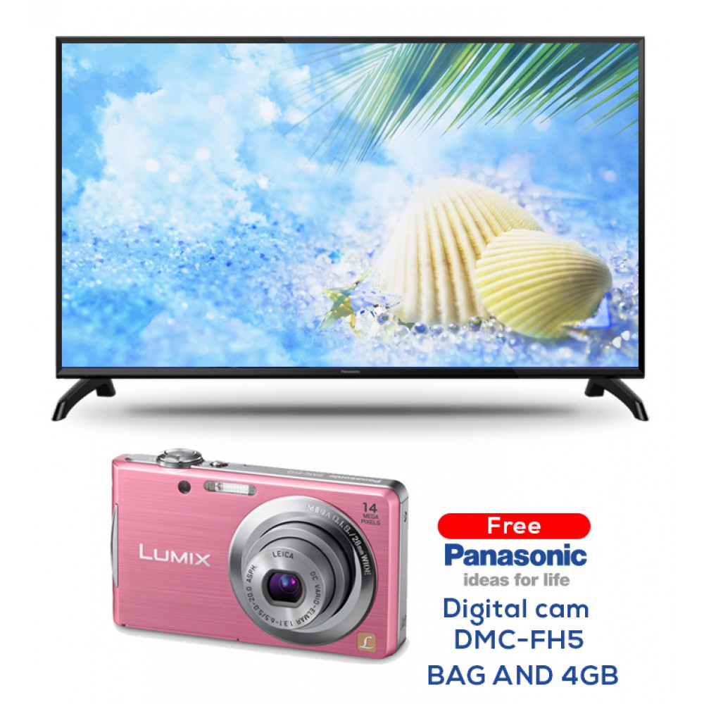 "PANASONIC LED TV 32"" TH-32C310M  WITH FREE GIFT DIGITAL CAM PINK DMC - FH5/BAG AND 4GB"