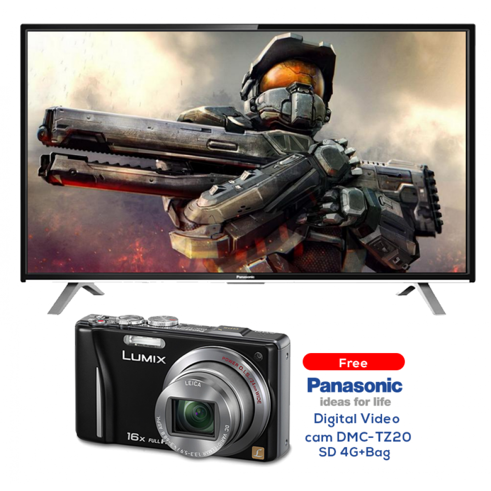 "PANASONIC LED TV 40"" TH-40C310M  WITH FREE GIFT DIGITAL VIDEO CAM  DMC-TZ20/BAG AND 4GB"