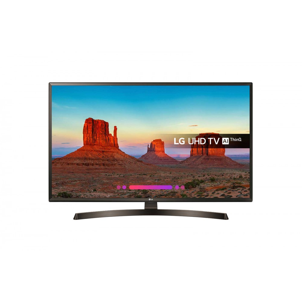 "LG LED TV 43"" UK6400PVB ULTRA HD 4K SMART WITH RECIVER BLACK"
