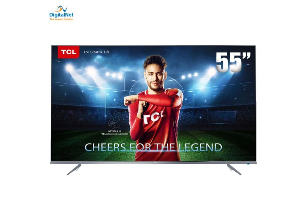 """TCL LED TV P6US SMART 4K 55"""" SILVER"""