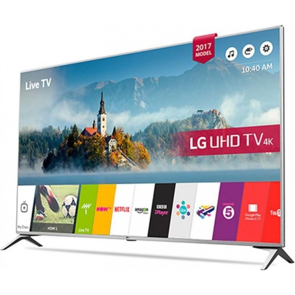 "LG LED TV 60"" UJ651V ULTRA HD 4K SMART WITH RECIVER SILVER KOREA"