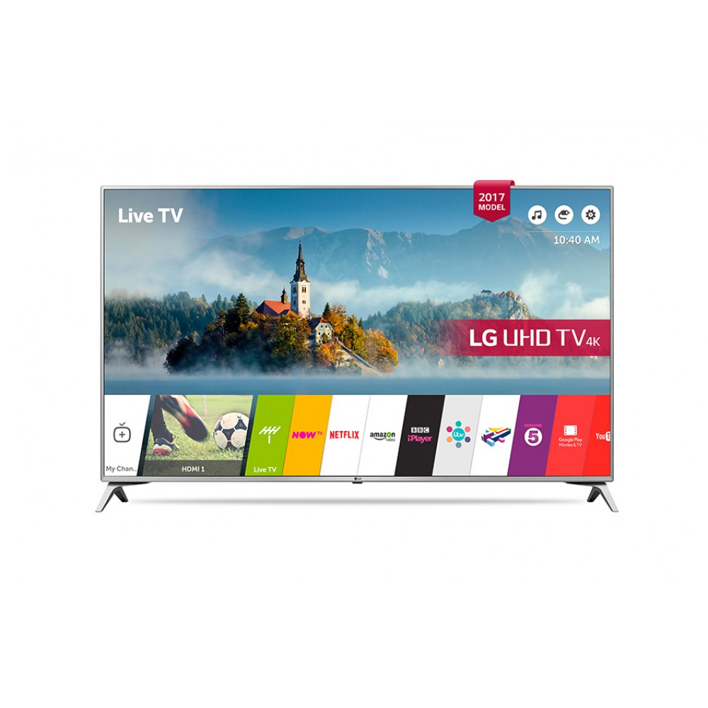 "LG LED TV 55"" UJ651V ULTRA HD 4K SMART WITH RECIVER SILVER KOREA"