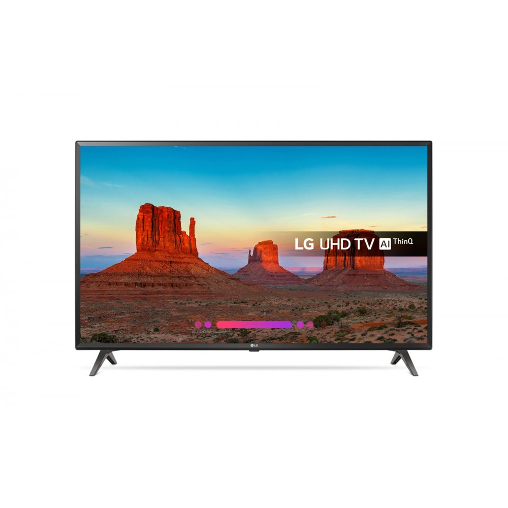 "LG LED TV 49"" UK6300PVB ULTRA HD 4K SMART WITH RECIVER BLACK"