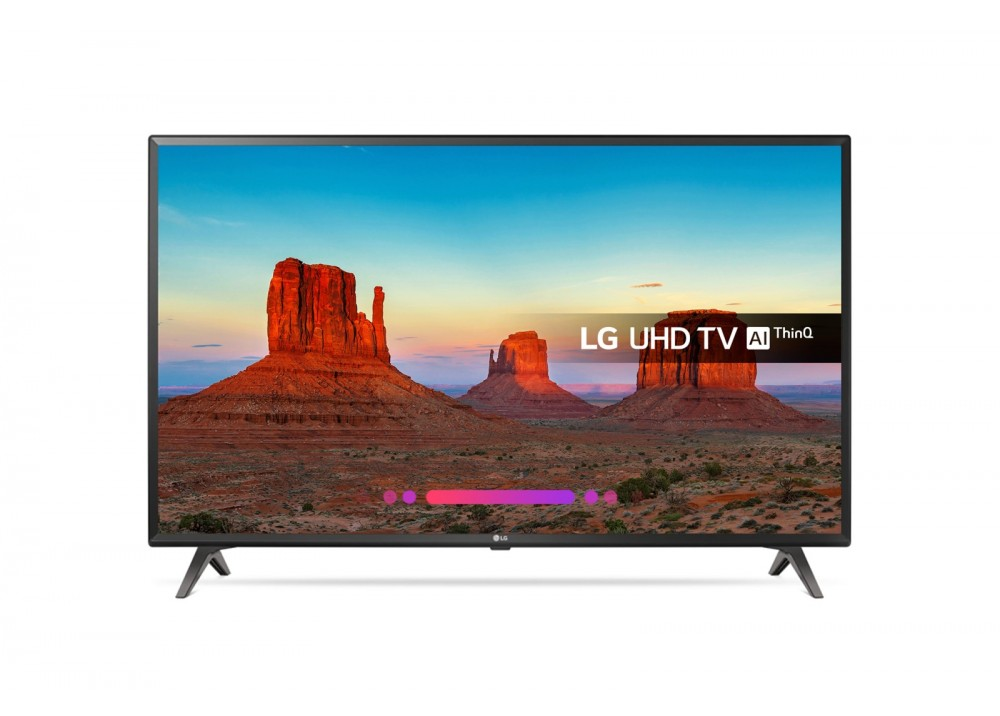 "LG LED TV 55"" UK6300PVB ULTRA HD 4K SMART WITH RECIVER BLACK"