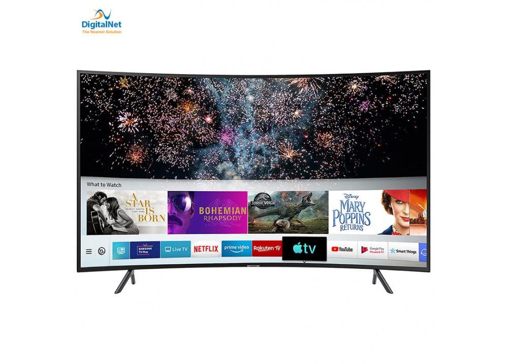 """SAMSUNG  TV LED 55"""" RU7300 4K CURVED SMART BLACK"""