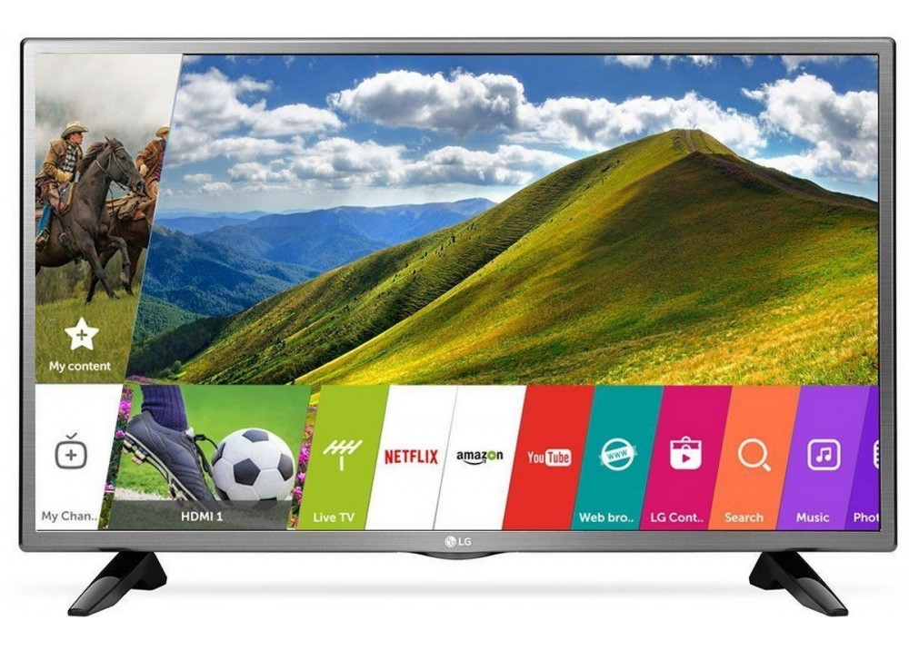 "LG LED TV 32"" LJ 570U SMART WITH RECEIVER SILVER"