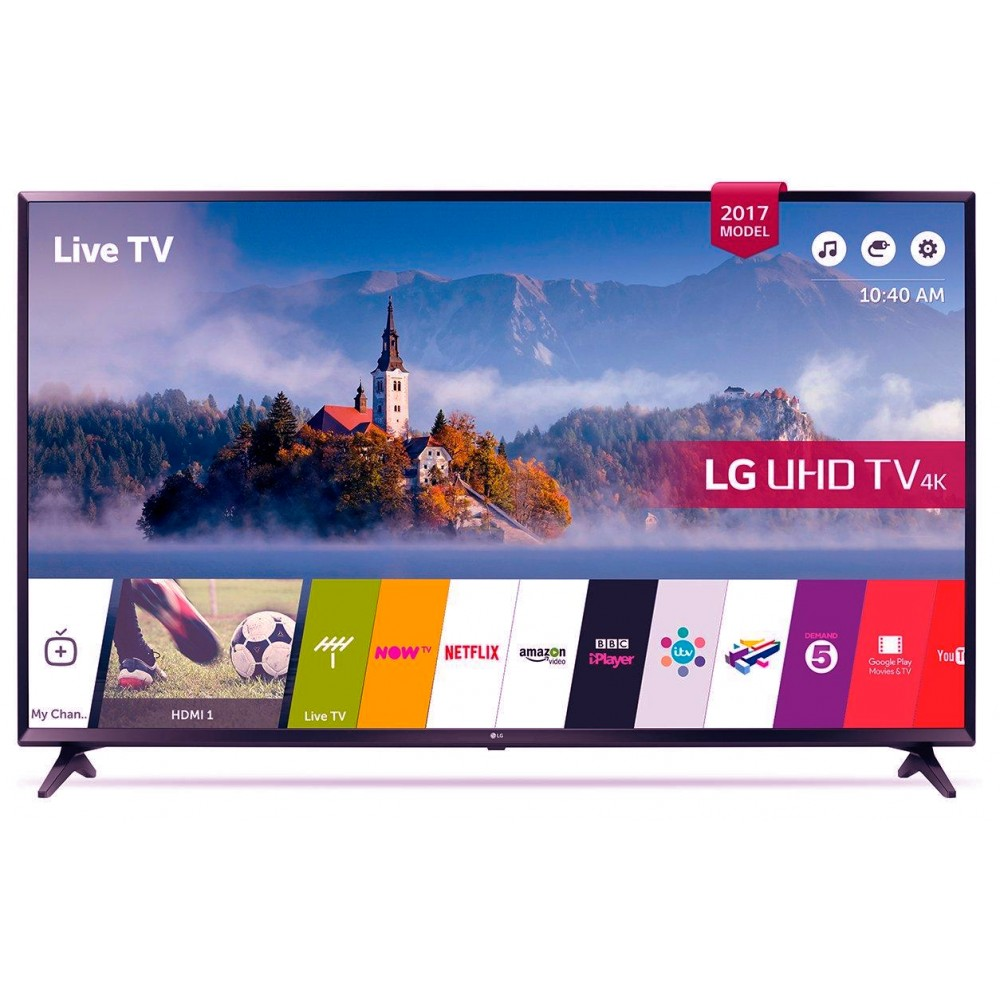 "LG LED TV 49"" UJ630V ULTRA HD 4K SMART WITH RECIVER BLACK KOREA"