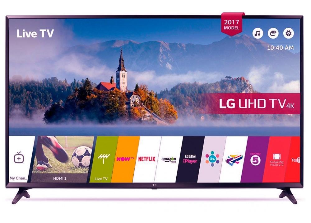 """LG LED TV 49"""" UJ630V ULTRA HD 4K SMART WITH RECIVER BLACK KOREA"""
