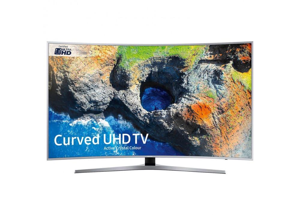 """SAMSUNG CURVED TV 49"""" MU6500U ULTRA HD 4K SMART WITH RECIVER SILVER"""