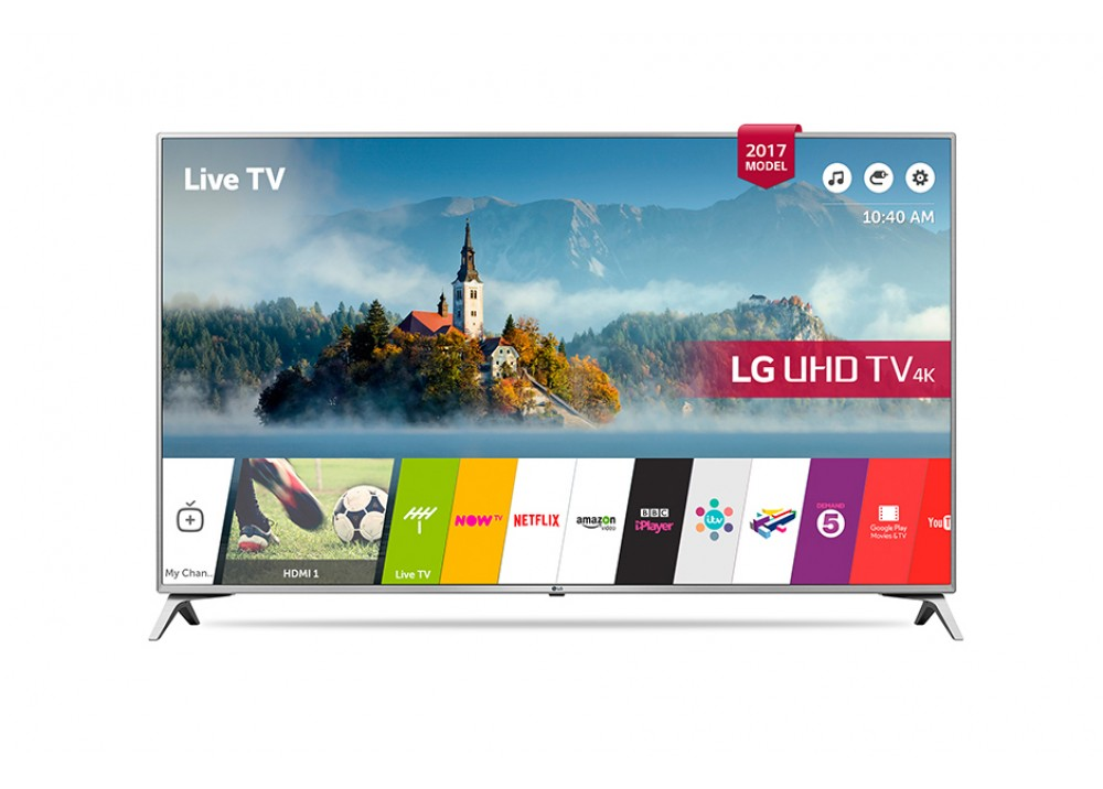 "LG LED TV 43""  UJ651V ULTRA HD 4K SMART WITH RECIVER SILVER KOREA"