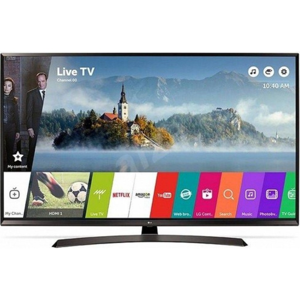 "LG LED TV 65"" UJ634V ULTRA HD 4K SMART WITH RECIVER BLACK"