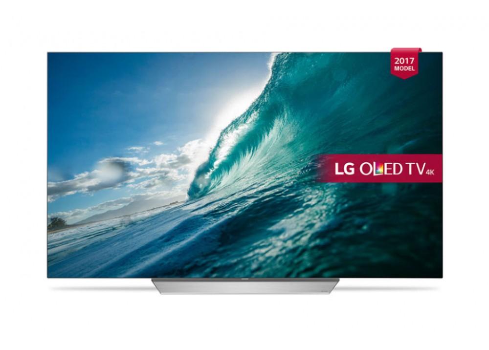 "LG OLED TV 55"" C7V UHD SMART 4K WITH RECIVER SILVER KOREA"