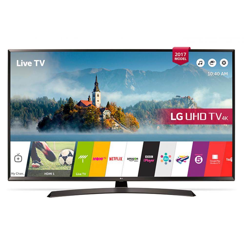 "LG LED TV 49"" UJ634V ULTRA HD 4K SMART WITH RECIVER BLACK EGYPT"