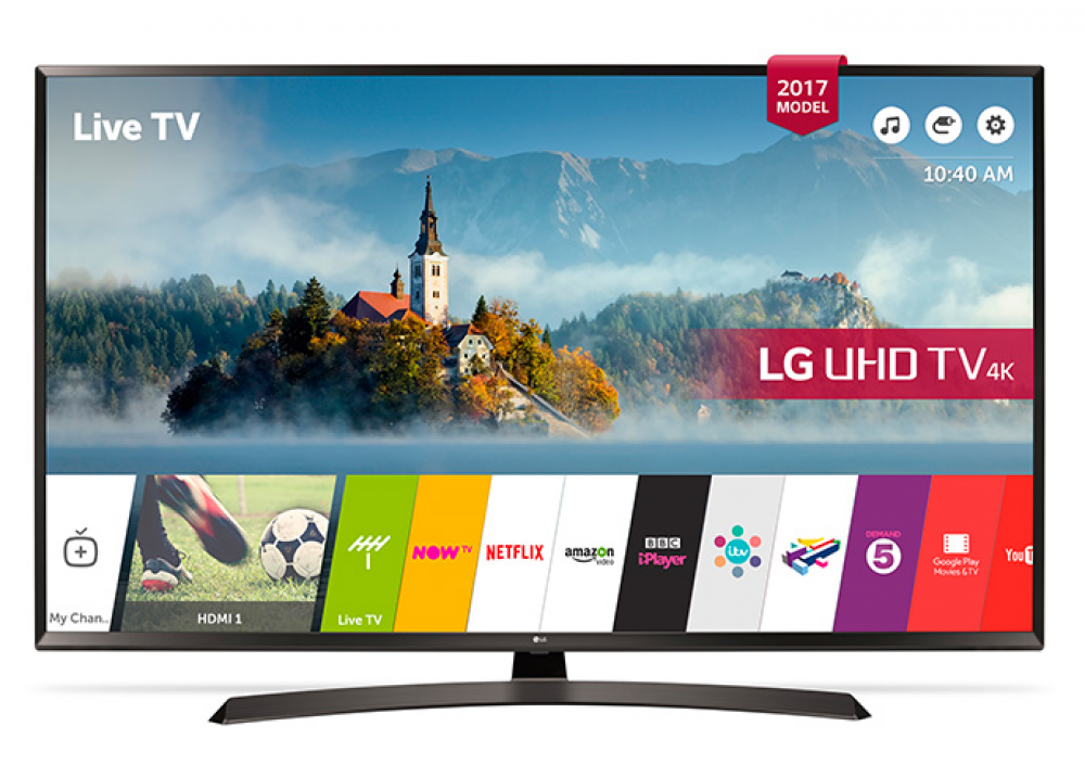 "LG LED TV 49"" UJ634V ULTRA HD 4K SMART WITH RECIVER BLACK EGYPT"