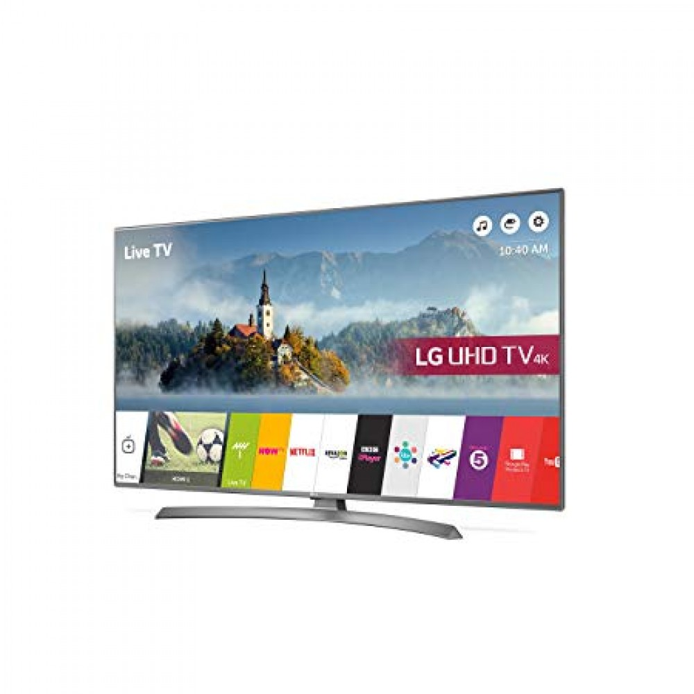 "LG LED TV 49"" UJ670V ULTRA HD 4K SMART WITH RECIVER SILVER KOREA"