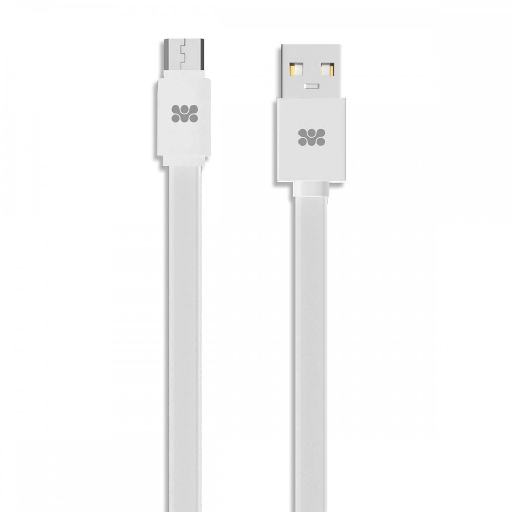 PROMATE CABLE PREMIUM MICRO-USB 2m LINKMATE-U2F2 WHITE