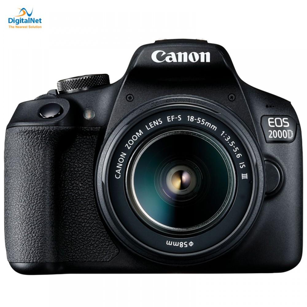 CANON CAMERA EOS-2000D KIT 18-55 III LENS BLACK