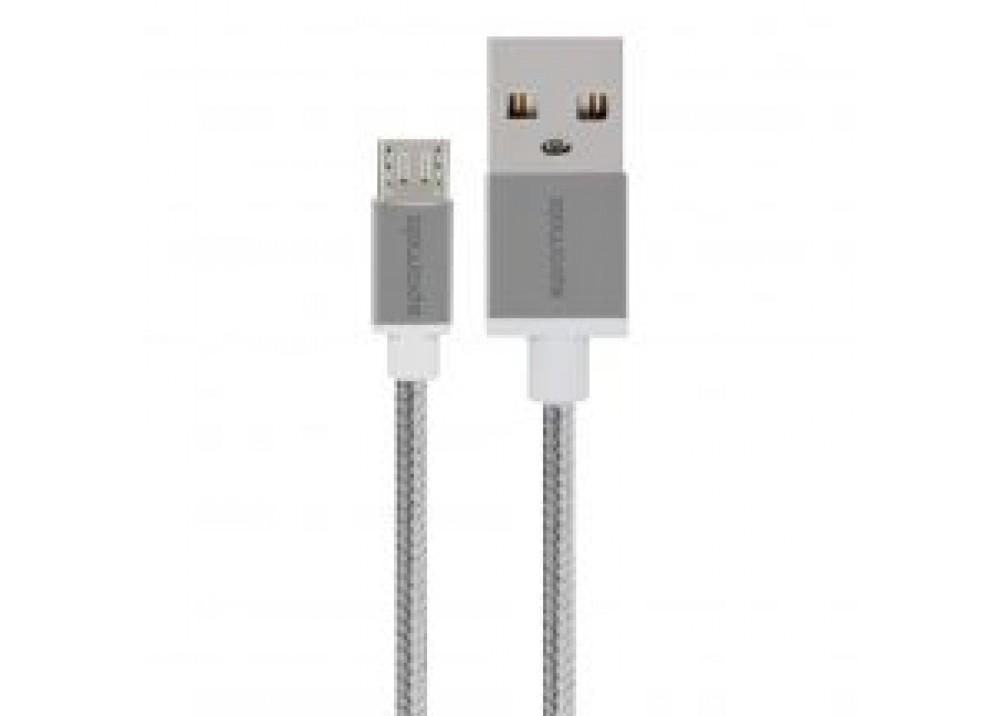 PROMATE MICRO-USB CABLE 2M LINKMATE-U2 SILVER