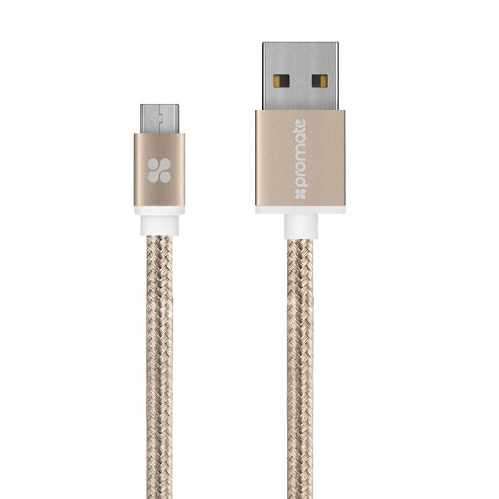 PROMATE CABLE TYPE-C UNLINK 1.2M GOLD