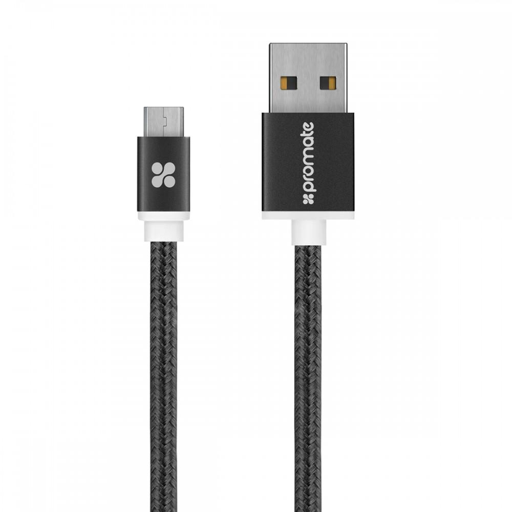 PROMATE CABLE MICRO-USB 1.2M LINKMATE-U2M BLACK