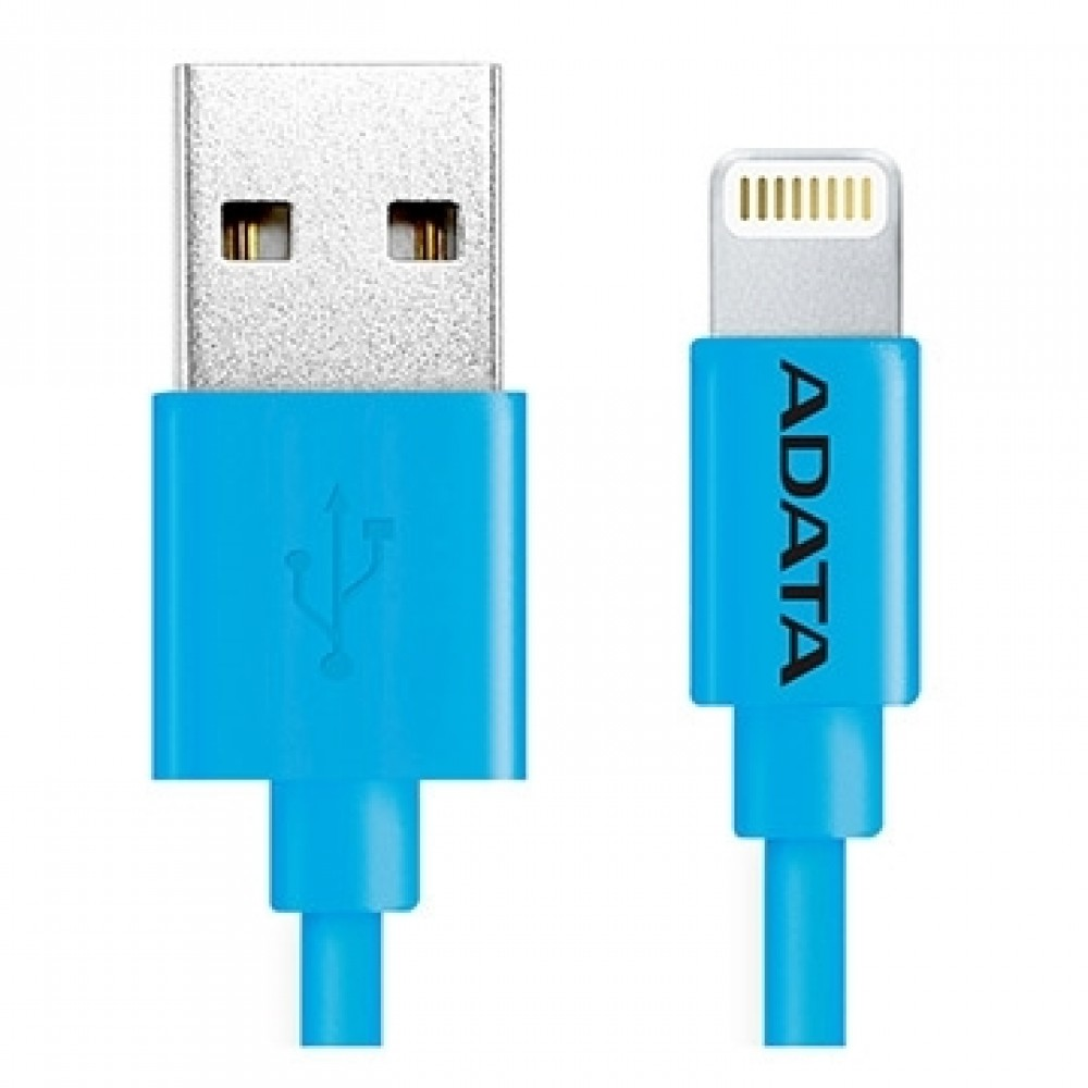 A-DATA APPLE PLASTIC LIGTTNING AND USB 100CM BLUE