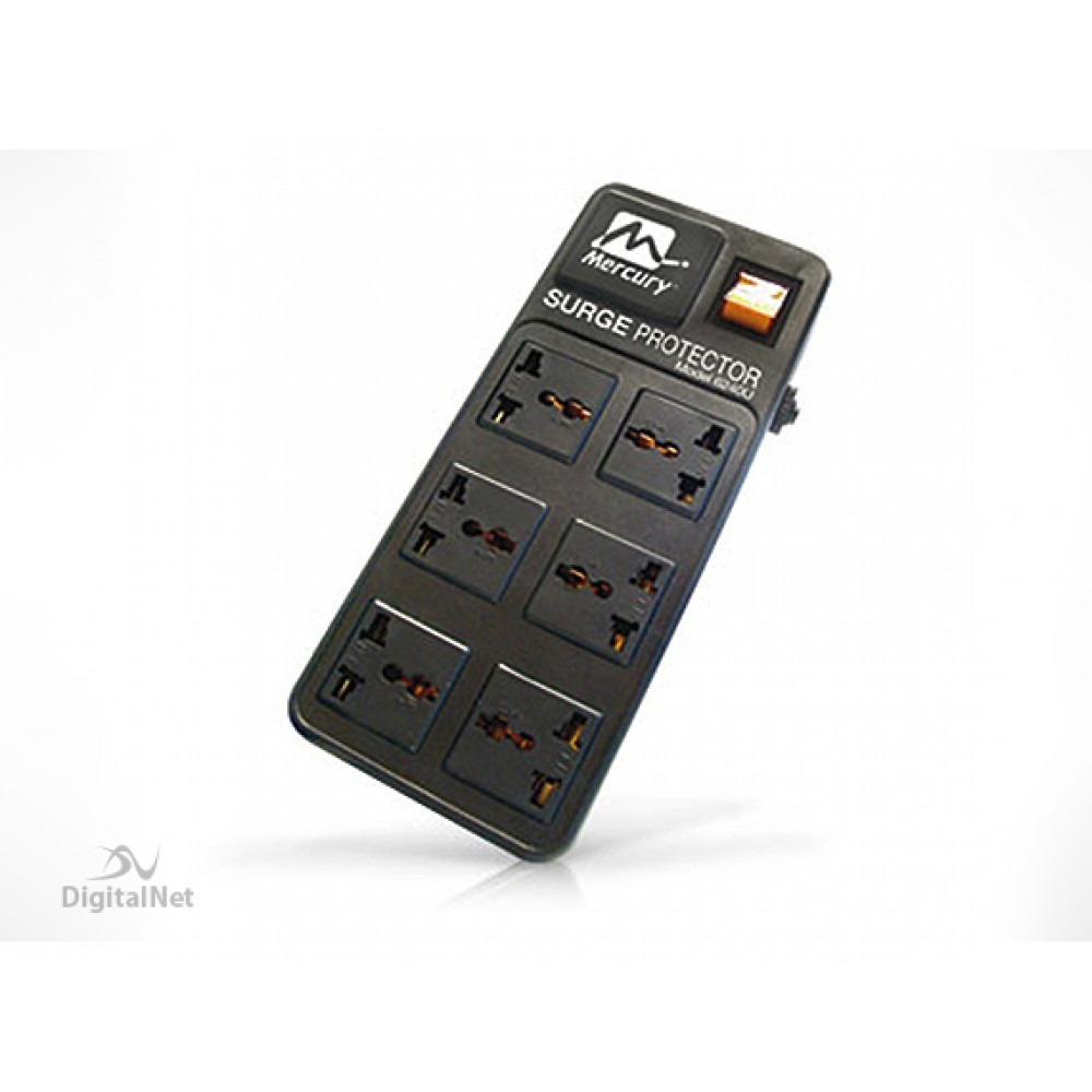 MERCURY SURGE POWER PROTECTOR 6240U 6-SOCKETS BLACK