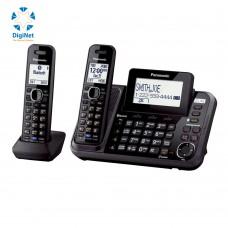 باناسونيك هاتف لاسلكي KX-TG9542 2 LINE 2 HANDSETS أسود