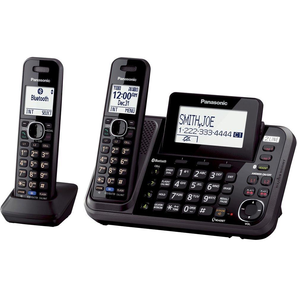 PANASONIC CORDLESS PHONE KX-TG9542 2 LINE 2 HANDSETS BLACK MALAYSIA