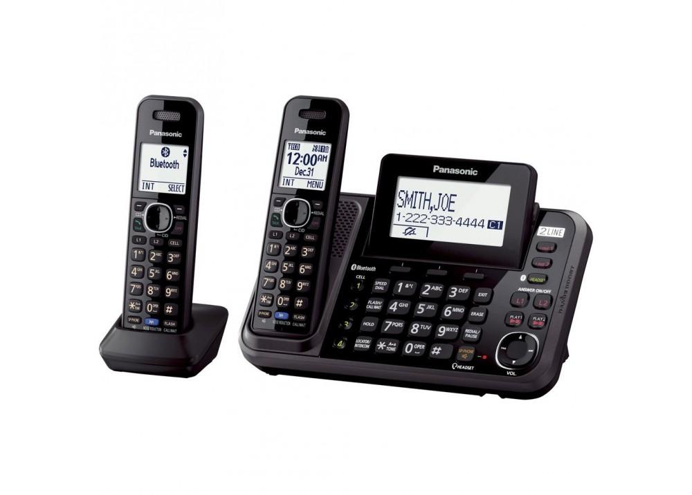 PANASONIC CORDLESS PHONE KX-TG9542 2 LINE 2 HANDSETS BLACK