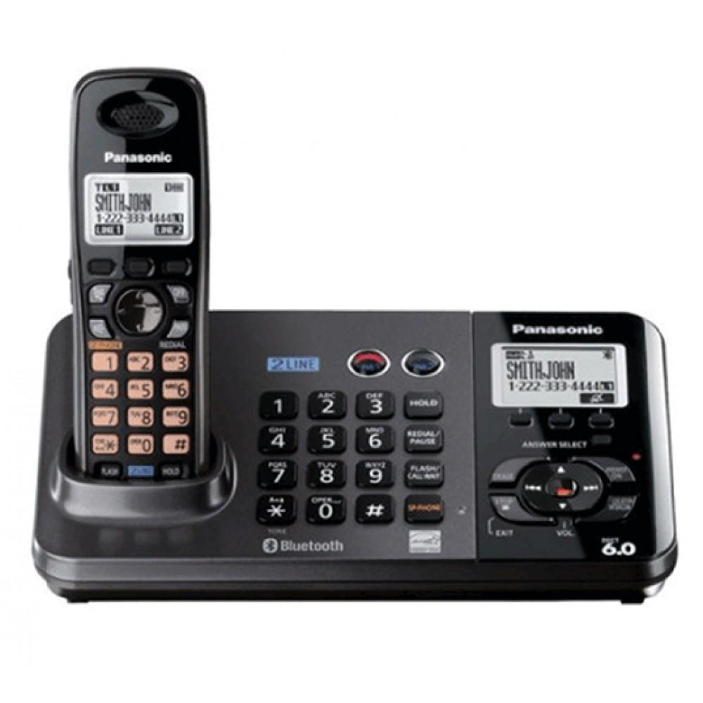 PANASONIC CORDLESS PHONE KX-TG9385BX 2 LINE BLACK MALAYSIA