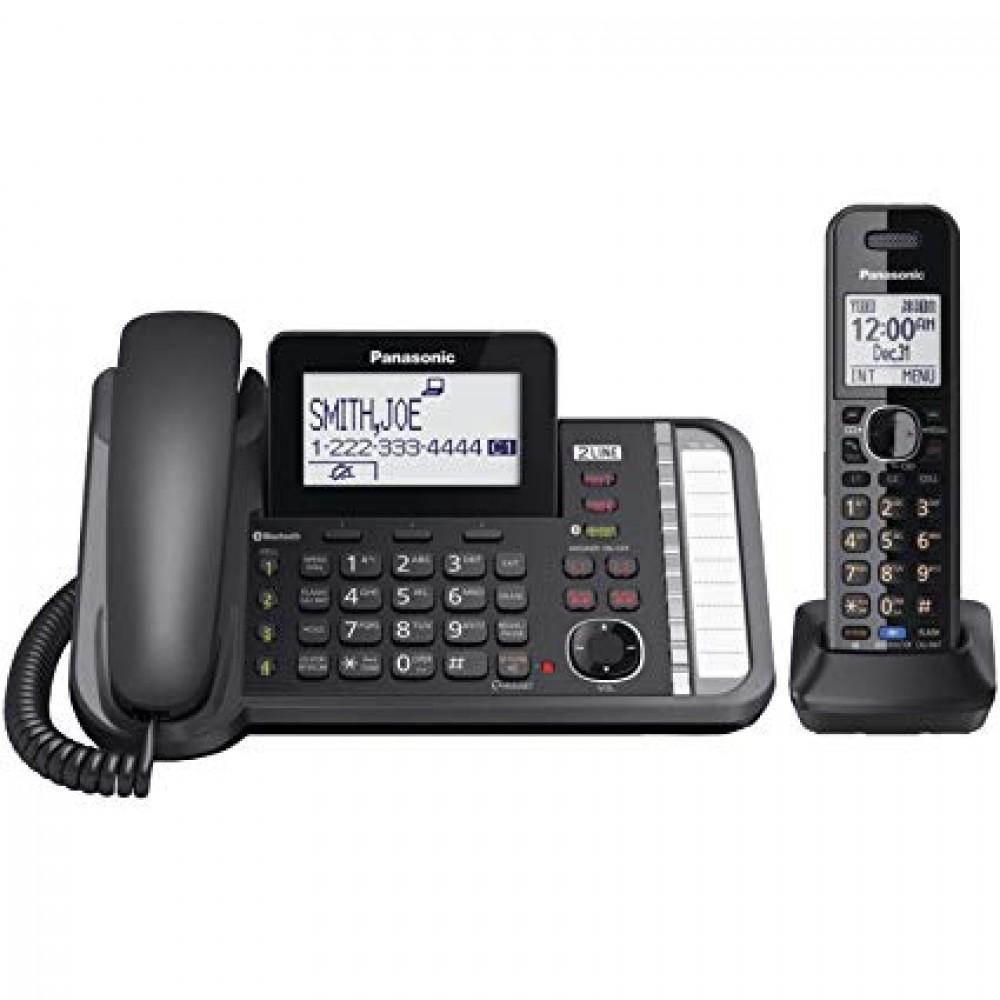 PANASONIC CORDLESS PHONE KX-TG 9581 2LINE BLACK