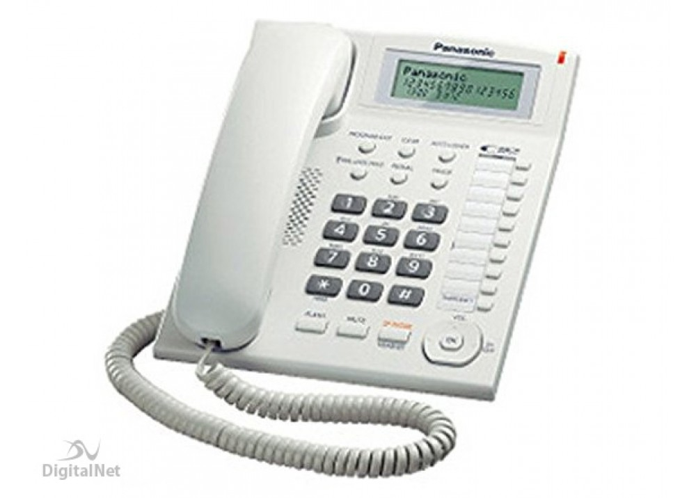 PANASONIC CORDED PHONE 880 WITH CALLER ID WHITE