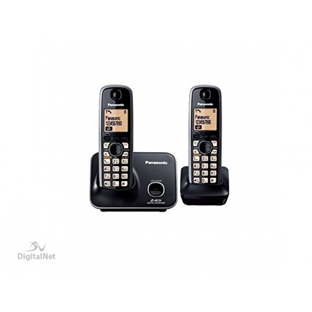 PANASONIC CORDLESS PHONE KX-TG3712BX WITH CALLER ID 2.4GHZ BLACK