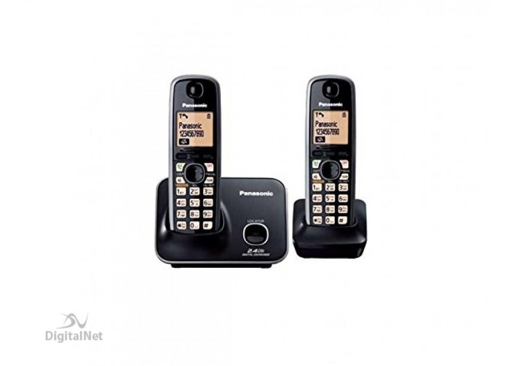PANASONIC CORDLESS PHONE KX-TG3712BX WITH CALLER ID 2.4GHZ BLACK