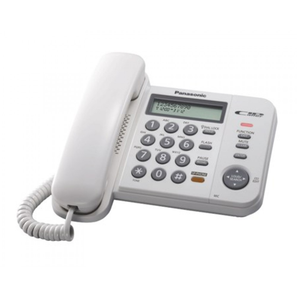 PANASONIC CORDED PHONE KX-TS580MX WHITE