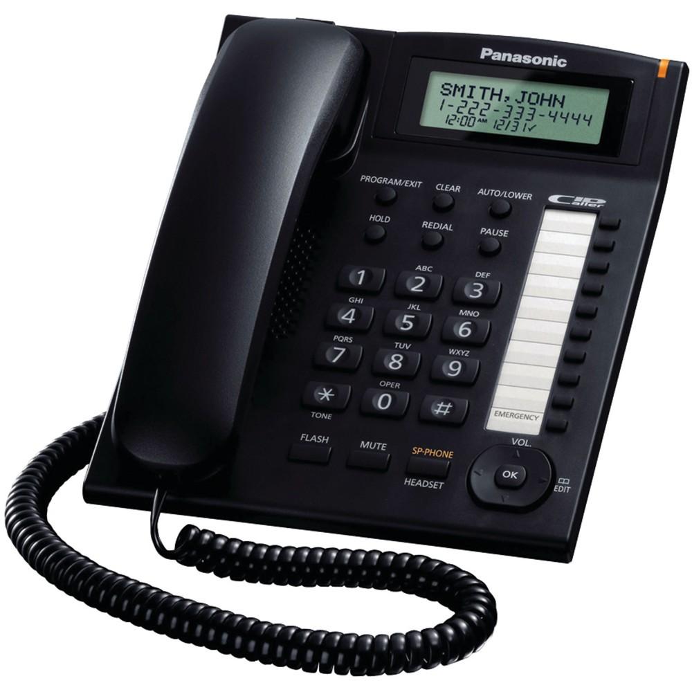 PANASONIC CORDED PHONE KX-TS880 MX WITH CALLER ID BLACK