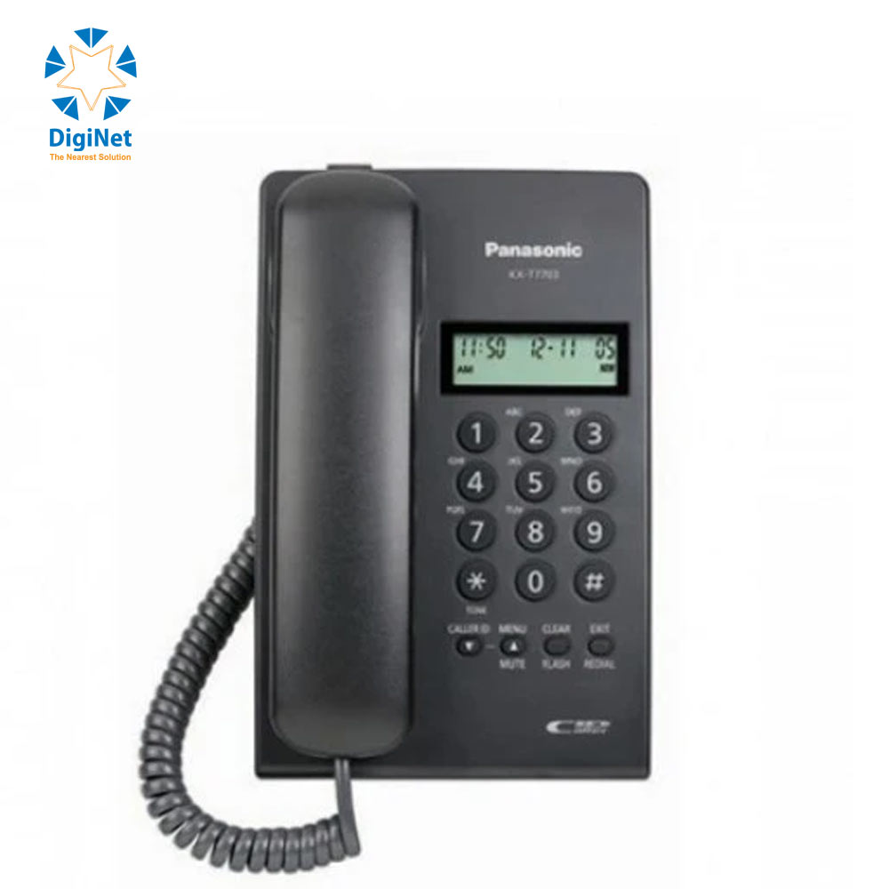 PANASONIC CORDED PHONE KX-T7703 MX WITH CALLER ID BLACK