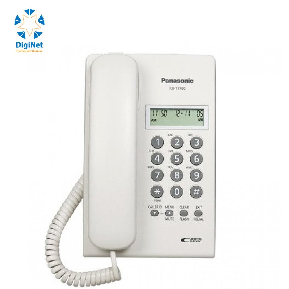 PANASONIC CORDED PHONE KX-T7703 FX WITH CALLER ID WHITE